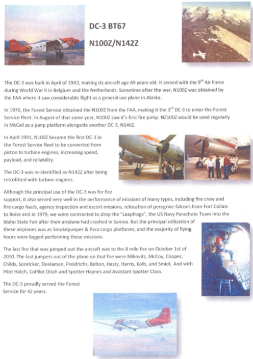 History of Forest Service DC-3s