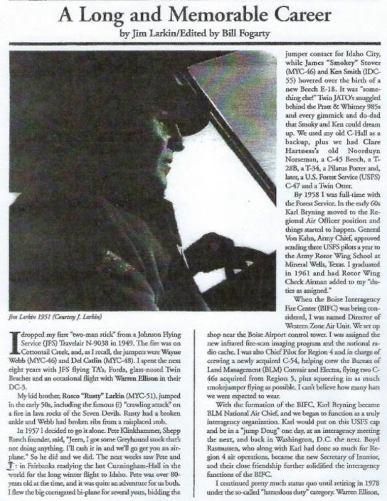 The Life of Pilot, Jim Larkin